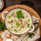 Грибной суп с верблюжьим молоком